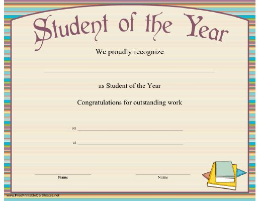 Top 5 Resources To Get Free Student Of The Year Award Templates ...