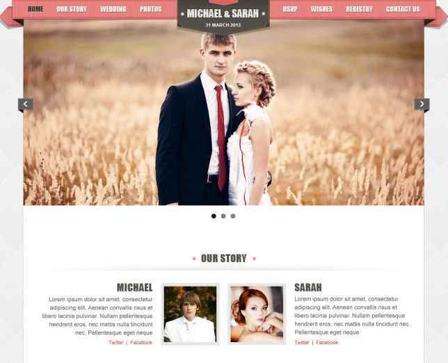 40+ Best HTML Wedding Events & Invitation Web Templates | WPULTI