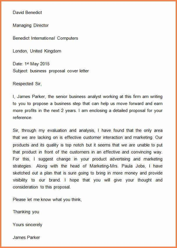 4+ sample letter of request for business proposal | Project Proposal