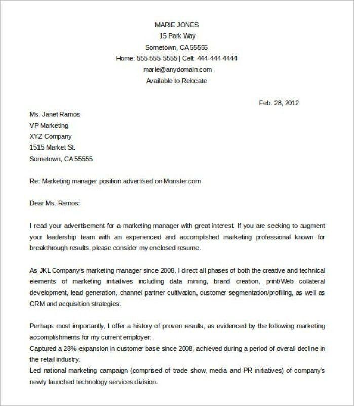Market Trader Cover Letter