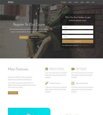 Premium Template Rois: 20+ Bootstrap Landing Pages | AZMIND