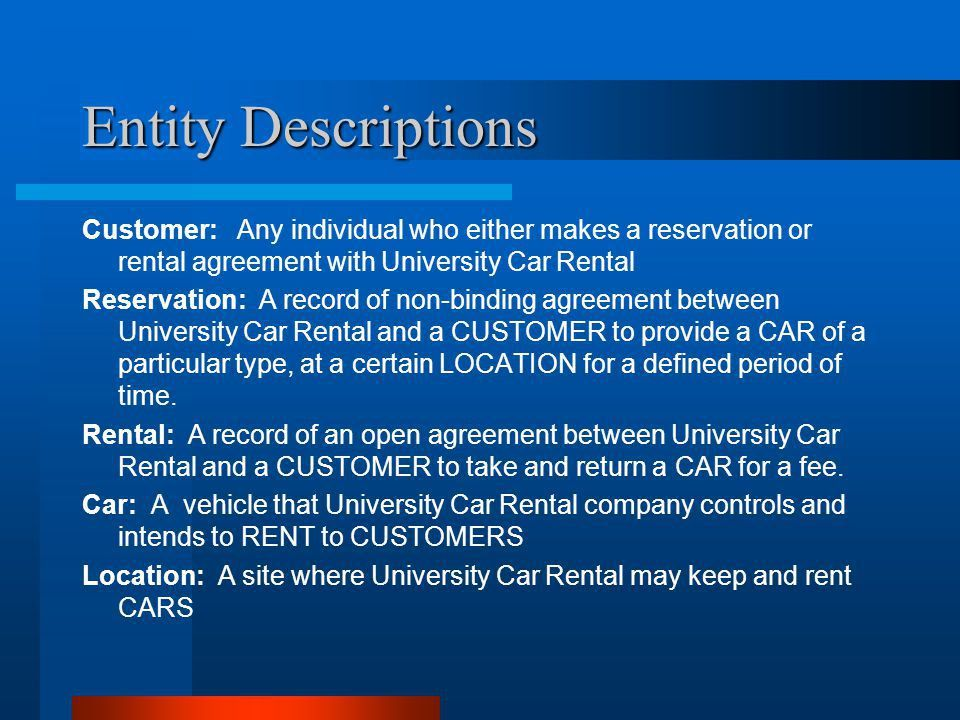 University Car Rental Project Vision Consulting Donna, Lap, Lisa ...