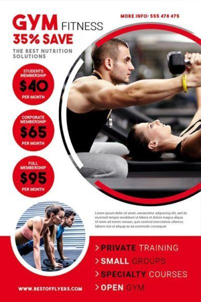 Download the Gym Fitness Free Flyer Template for Photoshop