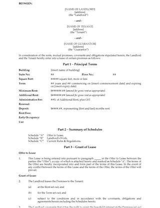 Ontario Commercial Lease Forms | Legal Forms and Business ...