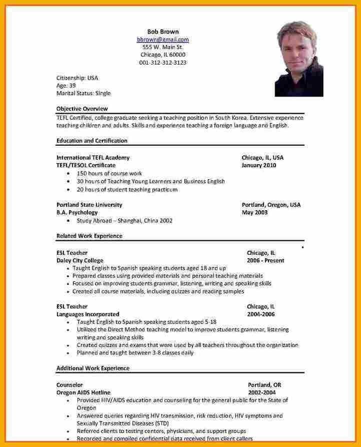 9+ example of curriculum vitae for job application | bursary cover ...
