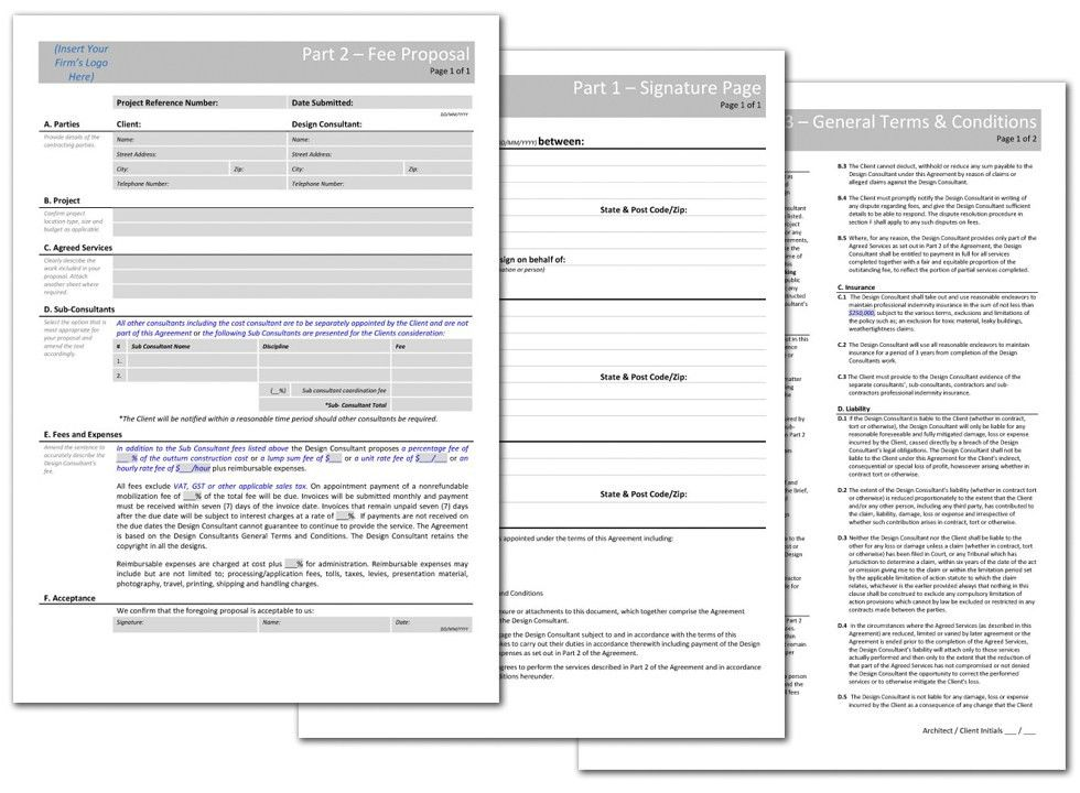 Small Works Fee Proposal + Client Architect Agreement | BTM+C