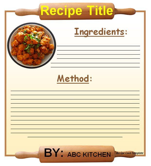 20+ Free Recipe Card, Page & Book Templates | Free & Premium Templates