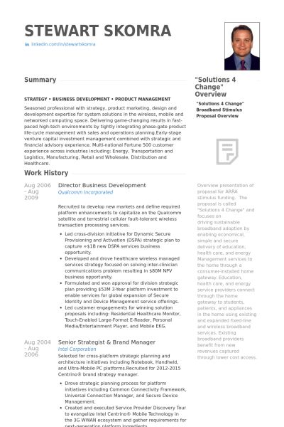 Director, Business Development Resume samples - VisualCV resume ...