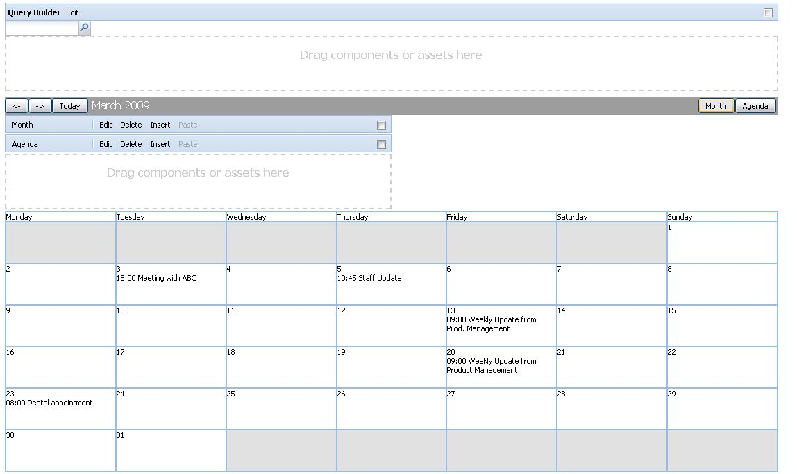 How to Use the Calendar with CQ WCM