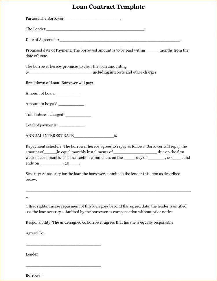 Loan Agreement Template Word Free Simple Loan Agreements Loan ...