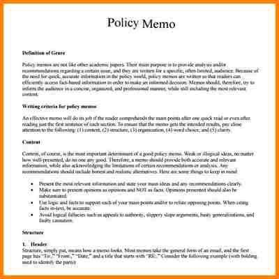 Decision Memo Template. Stunning Examples Of Interoffice ...