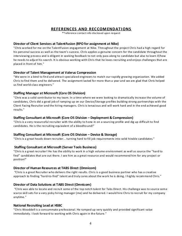 Chris Wooddell CV w/references (senior, recruiter, sourcer, corporate…