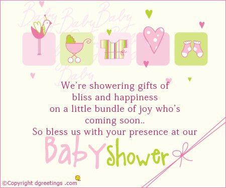 Shower Invitation Wording