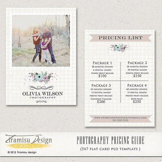 Wedding Photography Price List Session by PhotographTemplates ...