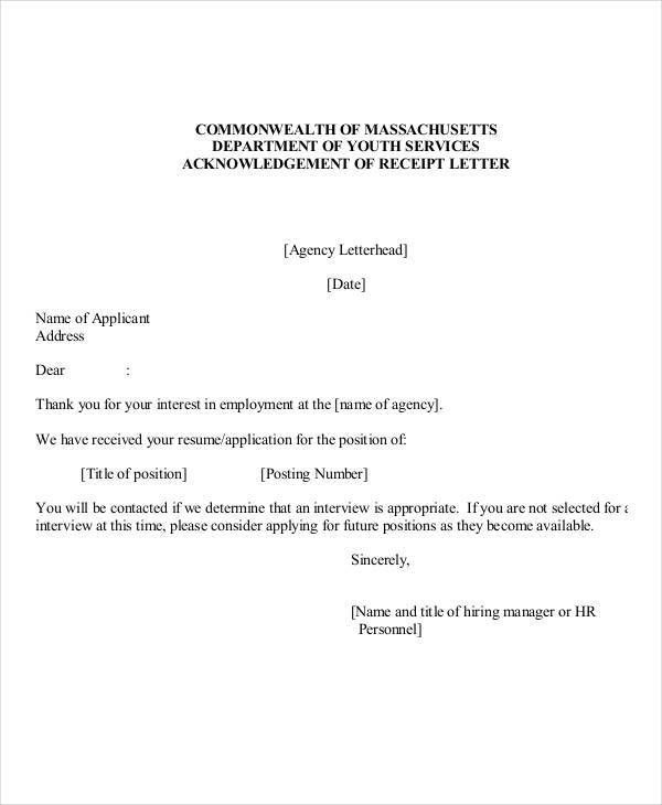 Employee Acknowledgement Letter Templates - 5+ Free Word, PDF ...
