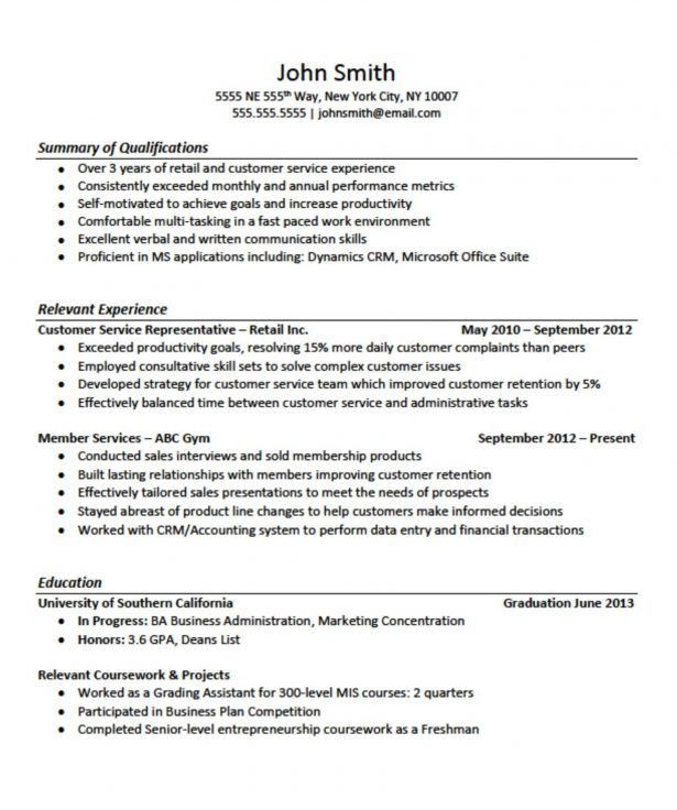 Resume : Graphic Design Resume Example Example Cv For Bar Work ...
