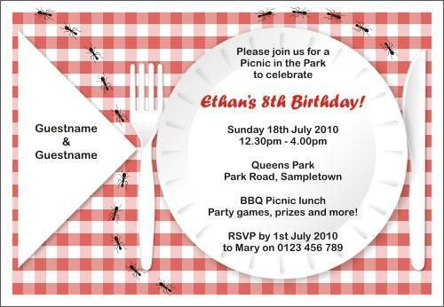 Company Picnic Invitation Template Free | parkers birthday party ...