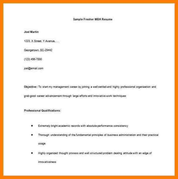 resume format in word file it freshers simple efective resume