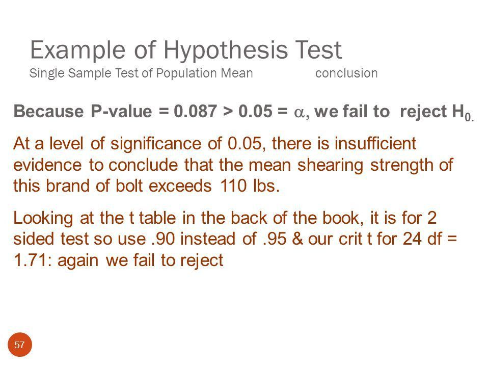 Hypothesis Tests Using a single Sample. - ppt download