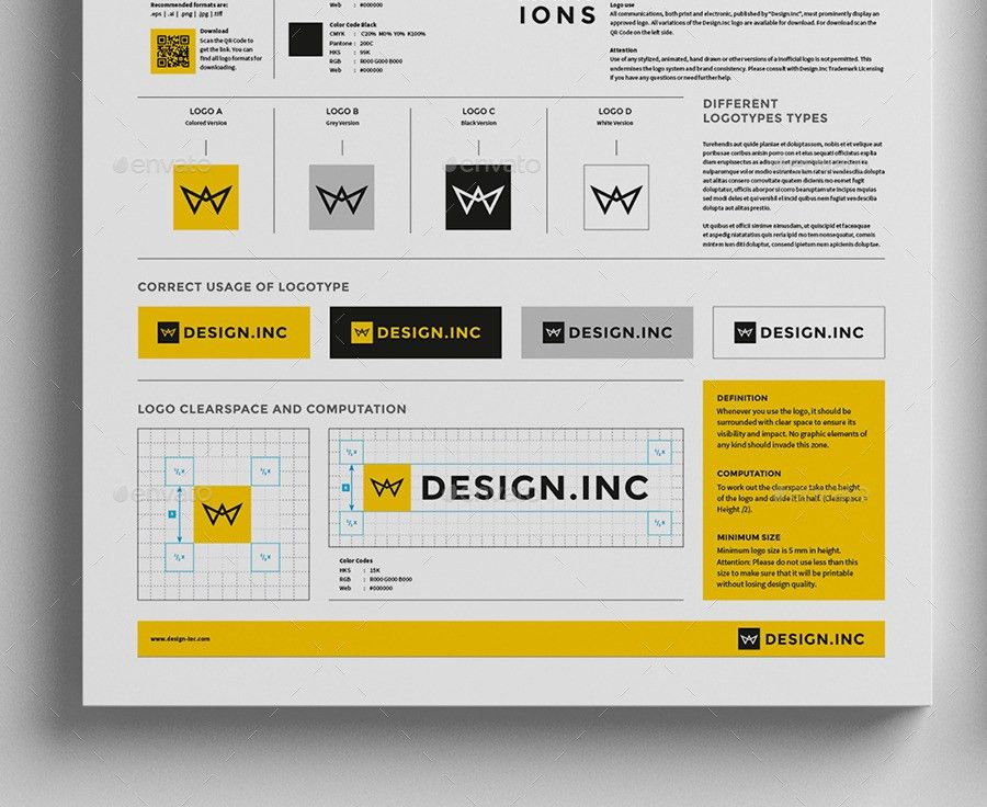 Brand Manual Template One by egotype | GraphicRiver