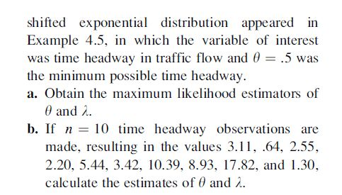 Shifted Exponential Distribution Appeared In Examp... | Chegg.com