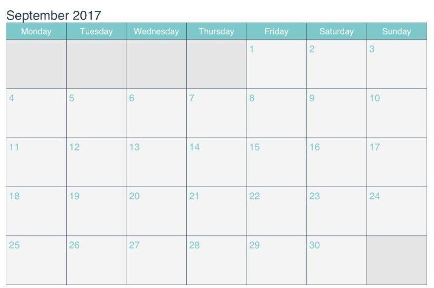 September 2017 Calendar Microsoft Word Archives - CALENDAR ...