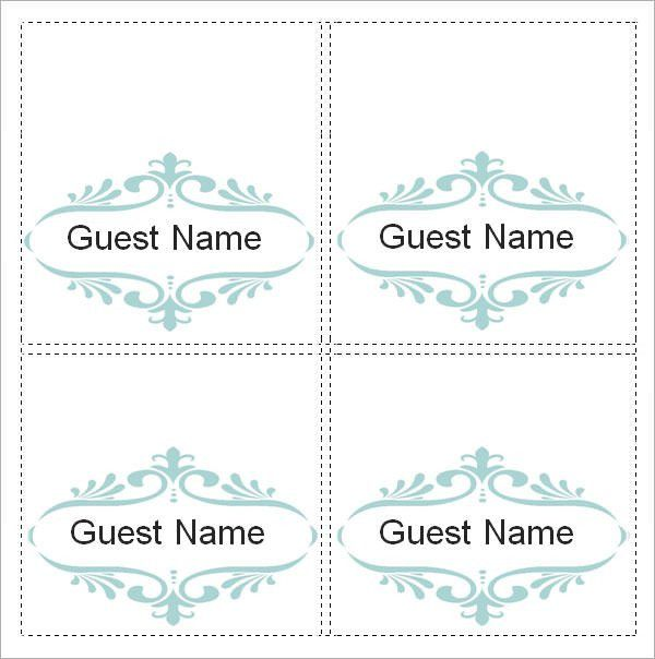 Sample Place Card Template - 6+ Free Documents Download in Word, PDF