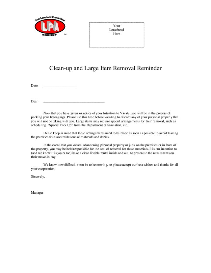 letter for tenant to move out | Docoments Ojazlink