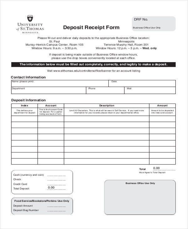 Down Payment Receipt Sample - 9+ Examples in Word, PDF