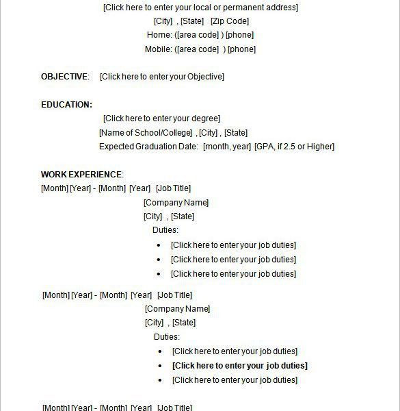 Resume Template Microsoft Word - Resume CV Cover Letter