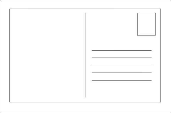 Postcard Template Word | Best Template Examples