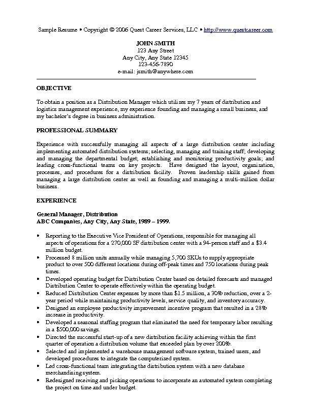 how to write a resume for a management position resume for
