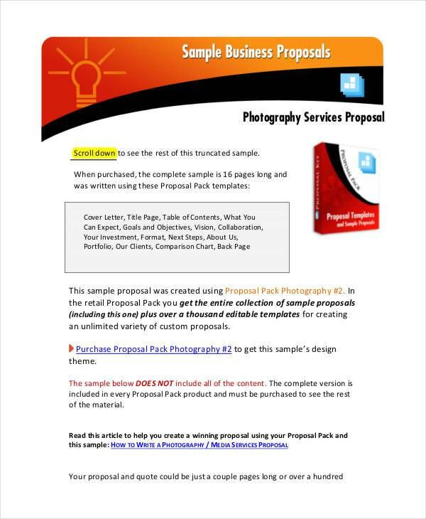 Photography Business Proposal Templates - 9 Free Word, PDF Format ...