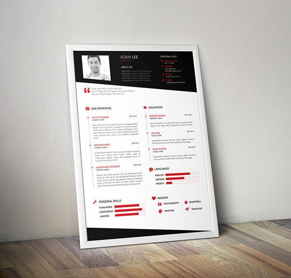 10 Free Resume-CV Templates Designs For Creative, Media, IT, Web ...
