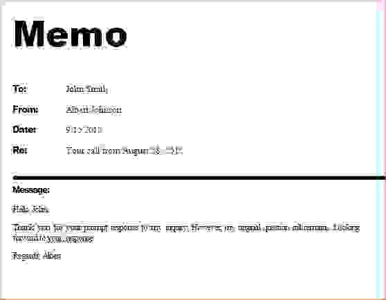 4+ business memo sampleReport Template Document | report template