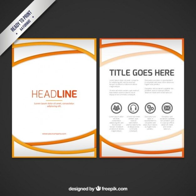 Abstract business booklet template Vector | Free Download