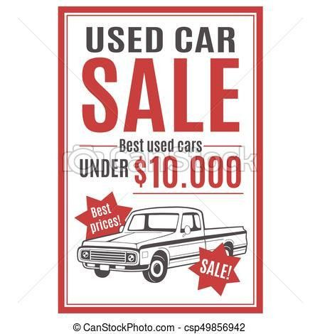 EPS Vector of Vector template for used car sale advertisement with ...