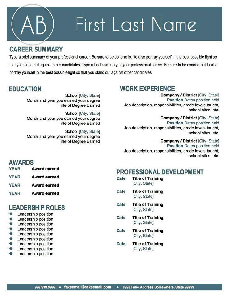 16 best Resume ideas images on Pinterest | Resume ideas, Resume ...