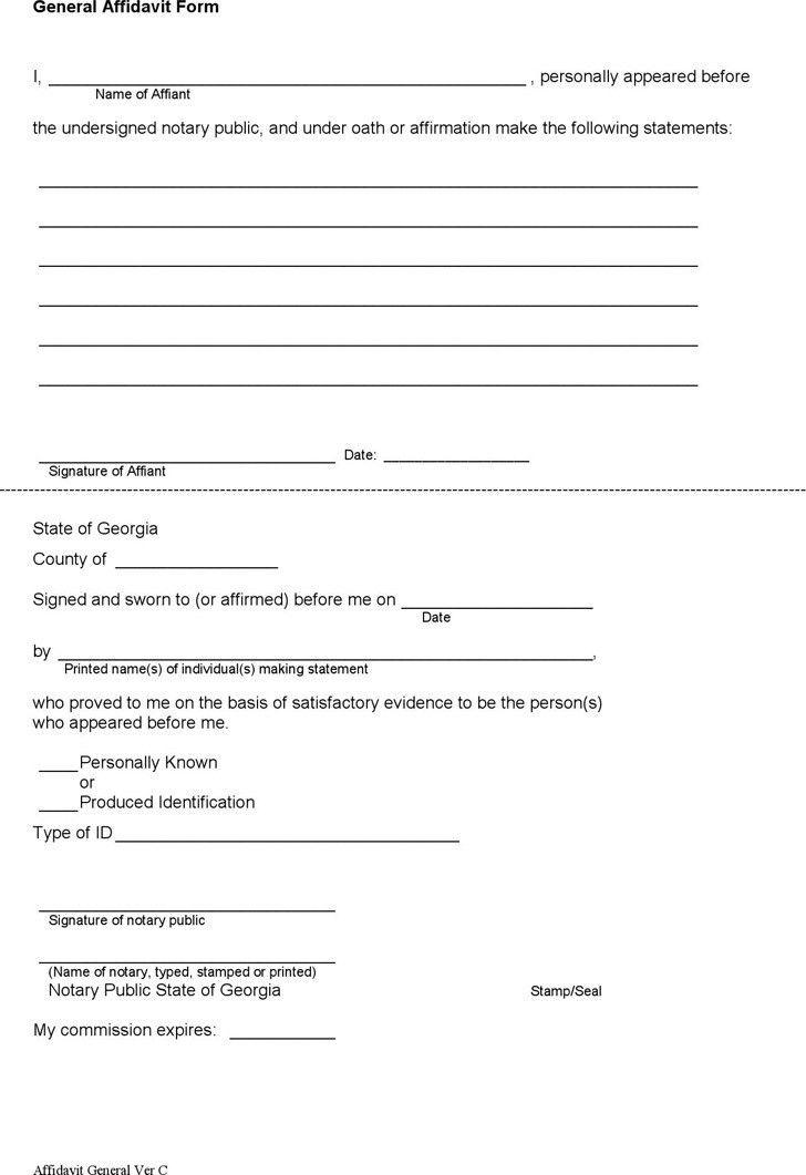 General Affidavit | Download Free & Premium Templates, Forms ...