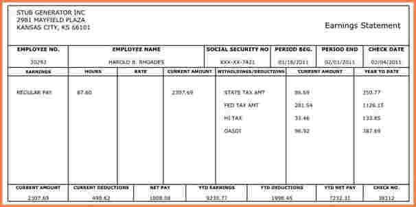 9+ payroll check template | Sales Slip Template