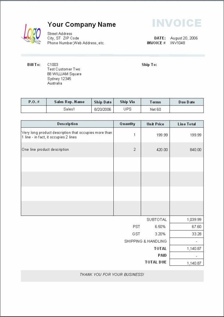 Graphic Design Invoice Template Free Download | Free Invoice