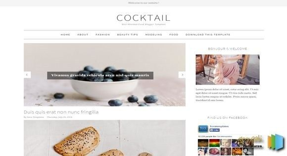 Cocktail Simple Blogger Template 2017 Free Themes with Free ...