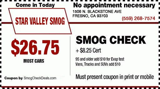 TERMS AND CONDITIONS - $26.75 Smog Coupon - Star Valley Smog