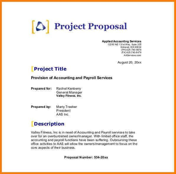 4+ simple proposal template | Proposal Template 2017
