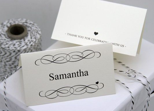 FREE DIY Printable Place Card Template and Tutorial | Place card ...