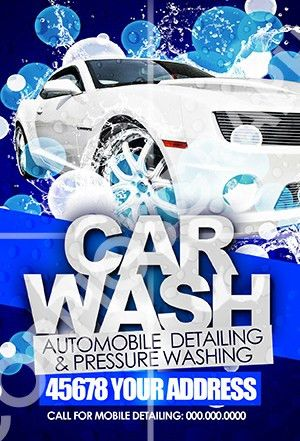 ScorpiosGraphx Car Wash Flyer Template | ScorpiosGraphxCar Wash ...