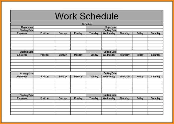13+ Monthly Schedule Template | Workout Spreadsheet intended for ...