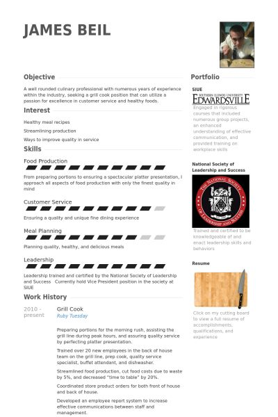 Grill Cook Resume samples - VisualCV resume samples database