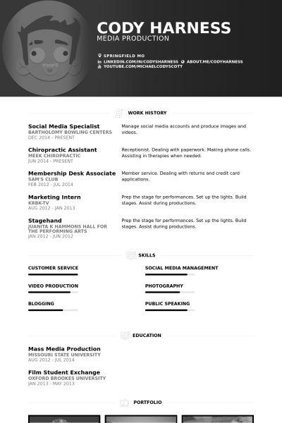 Media Specialist Resume samples - VisualCV resume samples database