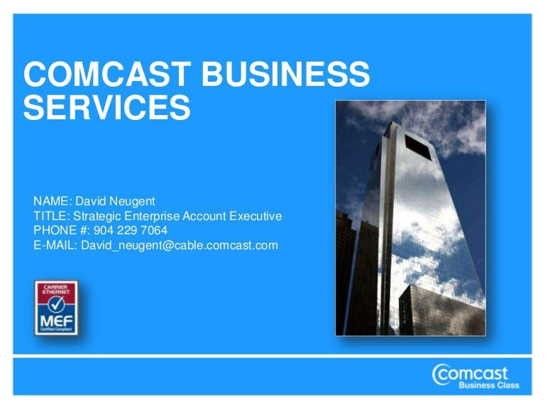 Comcast Ethernet Via Fiber Solutions Metro E 082710